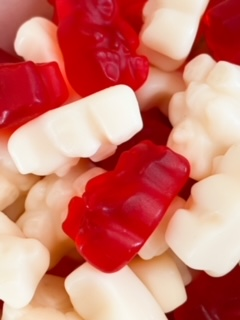 Valentine gummy bears